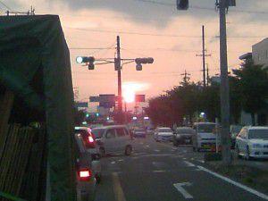 三重県津市からの夕陽