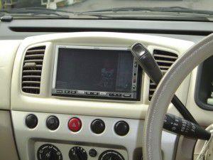 モコに日産純正HDDカーナビの設置・取付完了