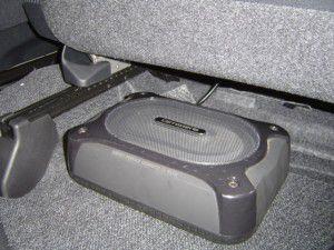 ムーブ 運転席下にパイオニアTS-WX11Aの取付・設置完了