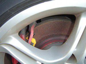 SW20 さびた後輪ブレーキ