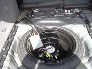 日産ステージアにクラリオンスムーナビNX308とETC・iPodケーブルの設置・取付4