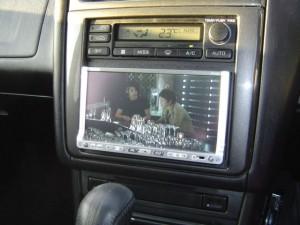 日産ステージアにクラリオンスムーナビNX308とETC・iPodケーブルの設置・取付