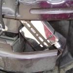 バモスにフォグライト用HIDバラストの設置・取付