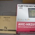 楽ナビAVIC-HRZ099と取付キットNKK-H75D