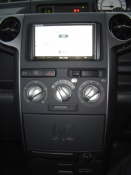 トヨタ bBにカーナビ 楽ナビAVIC-HRZ099の設置完了