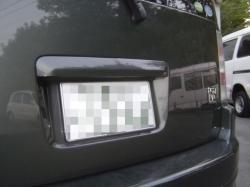 トヨタ ビービーにバックカメラを設置した写真