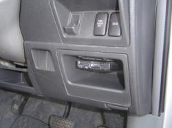 トヨタ シエンタにパナソニック製ETC車載器の設置CY-ET909KD
