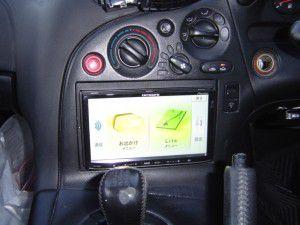 RX7 FD3Sにパイオニア製カーナビの取付