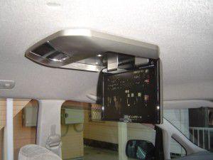 トヨタ エスティマにアルパイン製フリップダウンモニターの取付