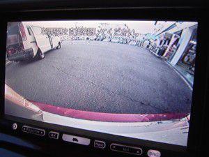 クラウンエステートのバックカメラからの映像