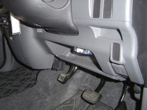 タントにETC車載器の取付 運転席