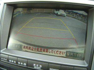 クラウンの純正バックカメラからの映像