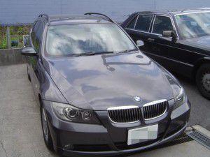 BMW E91にバックカメラの取付