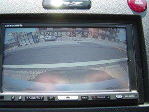 CR-Z バックカメラからの映像