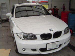 BMW 1シリーズにパイオニア製カーナビの取付