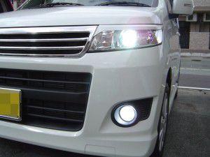 ワゴンR フォグ&ヘッドライトをHIDに交換