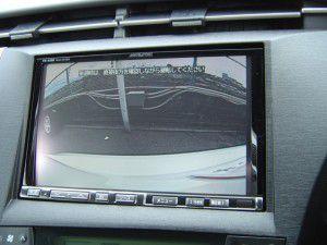 プリウス バックカメラからの映像
