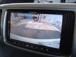 ヴォクシーのバックカメラからの映像