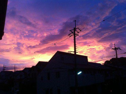 大阪の不気味な朝焼け2011年7月18日AM4:45