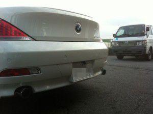 BMW 6シリーズ バックカメラの設置・取付