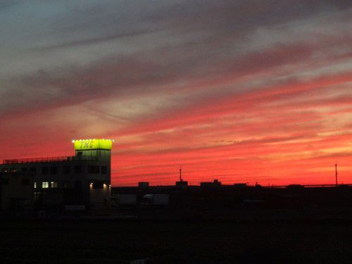 2011年11月12日17時11分大阪府高槻市・茨木市の空 夕焼け