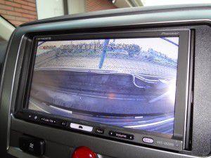 デリカ バックカメラ・リアビューカメラからの映像