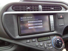 トヨタ アクアに純正カーナビNHZN-W60Gの取付完了