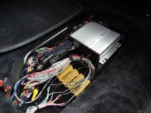 ポルシェ911 BOSEシステム改 新規スピーカー配線