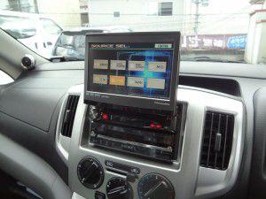 NV200 アルパイン製インダッシュカーナビ取付2