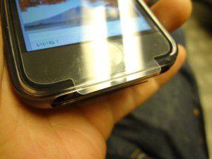 iPhone5 初期保護シートをはがさず設定