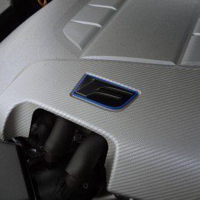LEXUS IS-F 6 エンジンカバーにもFのエンブレム