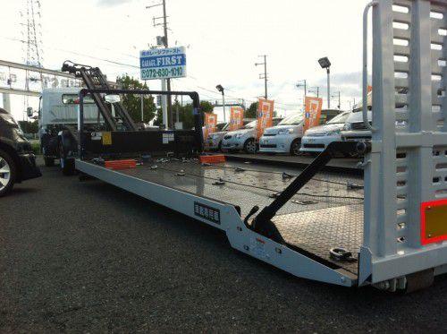 フルフラットローダー 積載車 キャンター